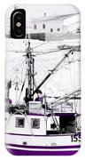 Purple Fishing Boat IPhone Case