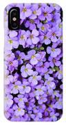 Purple Flowers - Rockcress IPhone Case