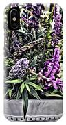 Purple Flowers In Bloom IPhone Case