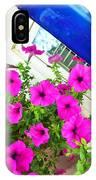 Purple Flowers On White Window 2 IPhone Case