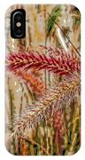Purple Fountain Grass Abstract By H H Photography Of Florida IPhone Case