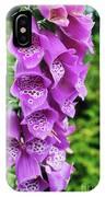 Purple Foxglove IPhone Case