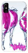 Purple Friesian Holstein Cows Drawing IPhone Case