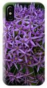 Purple Globe Thistle IPhone Case