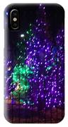 Purple Holiday Lights IPhone Case