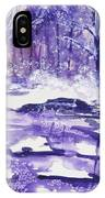 Purple Ice On Kaaterskill Creek IPhone Case