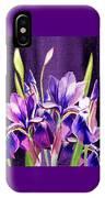 Purple Iris Dance  IPhone Case