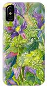 Purple Lillies And Baby's Breath IPhone Case