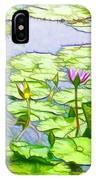 Purple Lotus Flower  IPhone Case