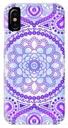 Purple Lotus Mandala IPhone Case