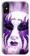 Purple Mask Flash IPhone Case