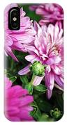 Purple Mums IPhone Case