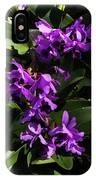 Purple Orchid Plant IPhone Case