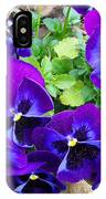 Purple Pansies IPhone Case
