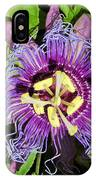 Purple Passion Flower IPhone Case