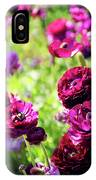 Purple Poppies IPhone Case