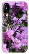 Purple Rhododendrons IPhone Case