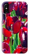 Purple Royals Tulips IPhone Case