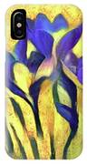 Purple Spring Crocus Flowers IPhone Case