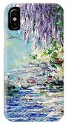 Purple Tree By The Lake IPhone Case