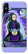 Purple Wise Woman Of The Sacred Raven IPhone Case