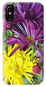Purple Yellow Flower Mix IPhone Case