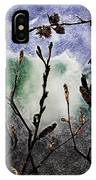 Pussy Willowand Persian Iron Wood IPhone Case