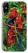 Qualia's Parrots IPhone Case