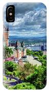 Quebec City Overlook IPhone Case