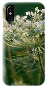Queen Anne's Lace In Green Horizontal IPhone Case