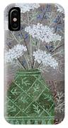 Queen Anne's Lace In Green Vase IPhone Case