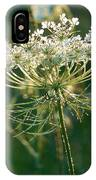 Queen Anne's Lace In Green Vertical IPhone Case