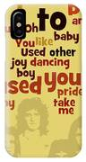 Queen. Can You Order The Lyrics? Dreamers Ball. IPhone Case