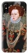 Queen Elizabeth I, C1588 IPhone Case