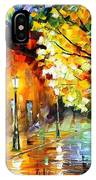 Quiet Corner-garden On The Stones - Palette Knife Oil Painting On Canvas By Leonid Afremov IPhone Case