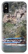 Quintessentially Dalyan River Boats And Rock Tombs IPhone Case