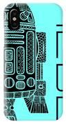 R2d2 - Star Wars Art - Blue IPhone Case