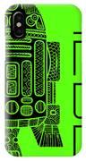 R2d2 - Star Wars Art - Green IPhone Case