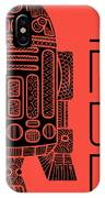 R2d2 - Star Wars Art - Red IPhone Case