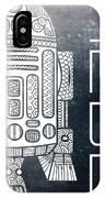 R2d2 - Star Wars Art - Space IPhone Case
