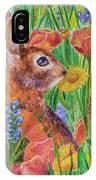 Rabbit In Meadow IPhone Case