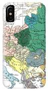 Racial Map Of Europe Circa 1923 IPhone Case