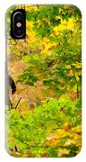 Racoon In Fall Trees IPhone Case