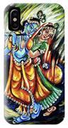 Radhe Krishna IPhone Case