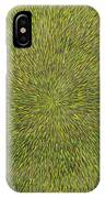 Radiation With Green With Yellow IPhone Case