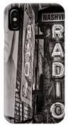 Radio Nashville - Monochrome IPhone X Case