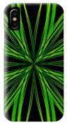 Radioactive Snowflake Green IPhone Case