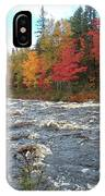 Raging Michigamme River IPhone Case