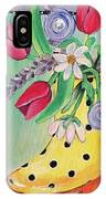 Rain Boots And Flowers IPhone Case
