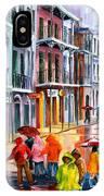 Rain On St. Peter Street IPhone Case